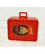 Old Tiny Red Barbie Suitcase 1 1/2 Inches Hard Plastic Opens!   - $8.42
