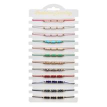 LUBINGSHINE 12pcs/Set Copper Crystal Beads Bracelets&Bangles Adjustable ... - $21.53