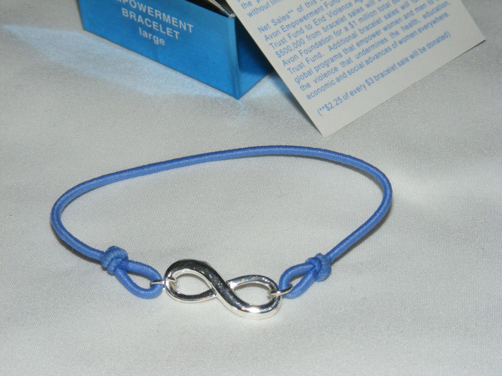 NIB (2008) AVON Empowerment Bracelet Infinity Symbol on Stretch Cord - Large AV5