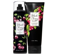 BATH & BODY WORKS Black Cherry Merlot Body Cream + Fine Fragrance Mist Set - $32.98