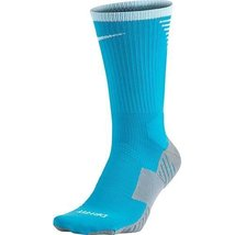 Nike Stadium Football Crew Chlorine Blue/Wolf Grey/White Crew Cut Socks ... - $19.79