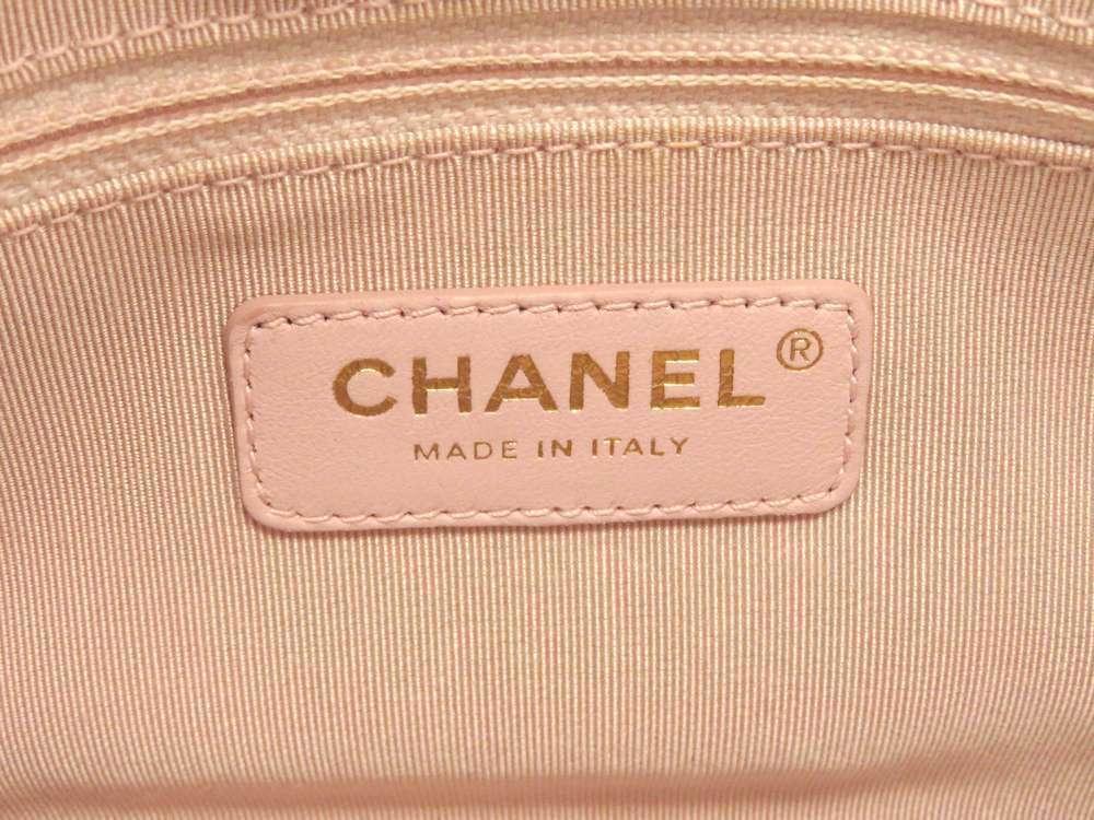CHANEL Handbag Leather White Chevron V Stitch 2Way Shoulder Bag Italy Authentic image 11