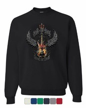 Sold My Soul to Rock & Roll Sweatshirt Demon Guitar Wings Trident Sweater - $15.87+