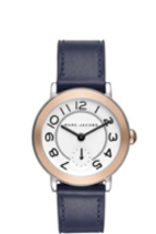 Marc Jacobs Riley Two-Tone and Blue Leather MJ1602 Watch 36mm - $82.00