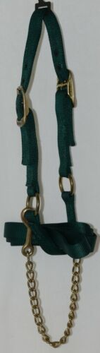 Unbranded Cattle Halter Yearling Nylon Brass Metal Connectors Green