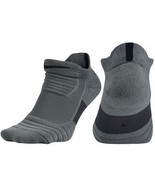 Nike Mens Elite Versatility Low Cut Gray Basketball Socks Size M XL SX5424-065 - $14.99