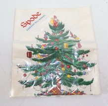 VTG Spode Christmas Tree Textiles 100% Cotton Hand Dish Kitchen Tea Towel - $24.99