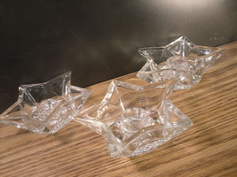 Taper 5 point Star Glass Candle Holder - Lot of 3 - $12.25