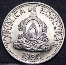 Honduras 10 Centavos, 1980 Gem Unc~Wreath With Beaded Border~Free Shipping - $3.85