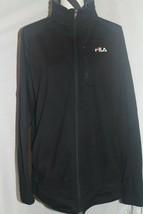FILA Vintage Fleece Jacket Mens Size Large Track Black Performa Full Zip... - $18.99
