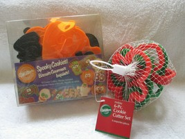 Wilton Spooky & Holiday cookie cutter sets, new in packages 16 total cutters - $15.00