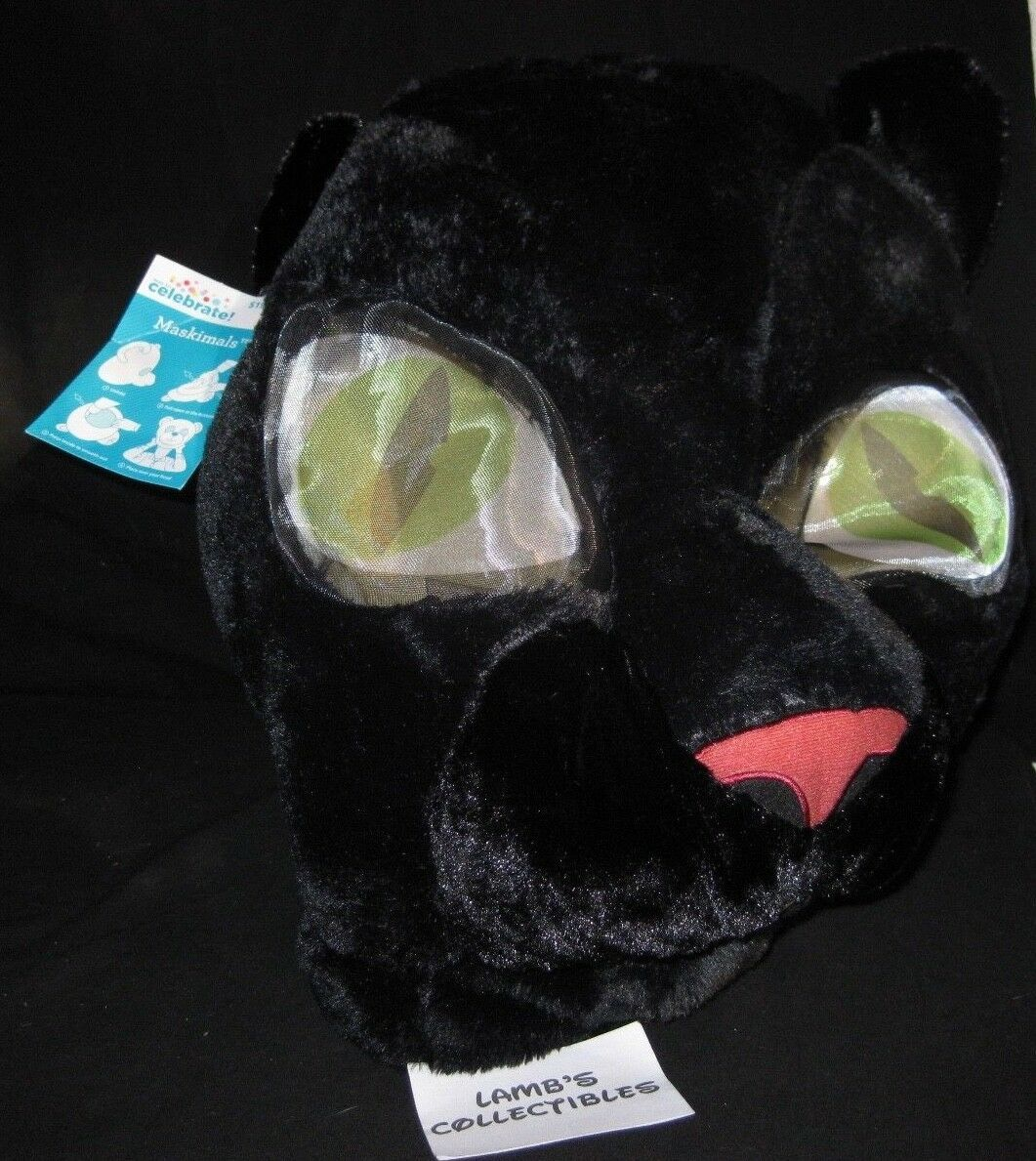 Primary image for Maskimals Black Cat Panther big head costume halloween mascot