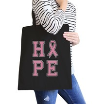 Hope Ribbon Black Canvas Bags - $14.99