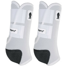 Small Classic Equine Legacy2 Support Boot Front White U-WHXL - $86.12