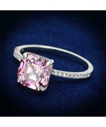 Women's 925 Sterling Silver Rhodium Cubic Rose 2.30(g) Engagement Ring - $24.25