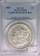 1887 Morgan Dollar PCGS XF-40 VAM-1B Partial E Reverse, Ultra Rare Hot 5... - $841.49