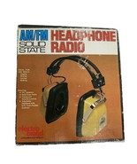 1970 Vintage Electro Brand AM/FM Solid State Headphone Radio in Box - $29.59