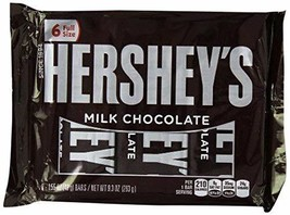 Hershey's Milk Chocolate Bars, 6-Count, 1.55-Ounce Bars - $13.99
