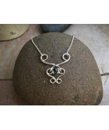"""Sterling Silver """"Fancy"""" Necklace with Stone - Item: FN - $184.00"""
