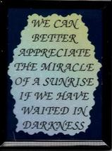 """The Miracle Of A Sunrise If 3"""" x 4"""" Framed Refrigerator Magnet Kitchen Decor  - $5.00"""