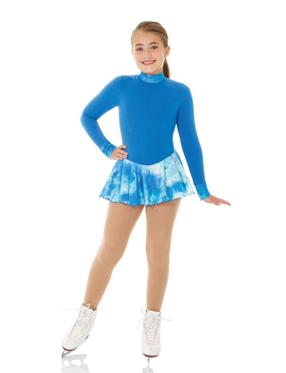 Primary image for Mondor Model 4423 Polartec Skating Dress 2017- Blue Tie Dye Size 4-6