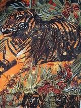 LA CHEMISE Vtg Artsy lion tiger animal print tribal Blouse Tunic Top XL - $69.25