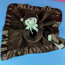 Carter's Plush Brown Lovey Monkey Rattle Baby Infant Toy Security Blanke... - $16.82