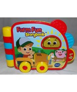 VTech Farm Fun Storybook Baby Toy Toddler Teaching Learning Story Book Lights - $15.66