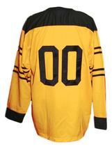 Custom Name # Pittsburgh Pirates Retro Hockey Jersey 1925 New Yellow Any Size image 2