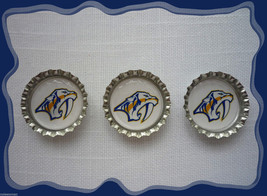Nashville Predators Set of 3 Bottlecaps For Scrapbooking - $3.00