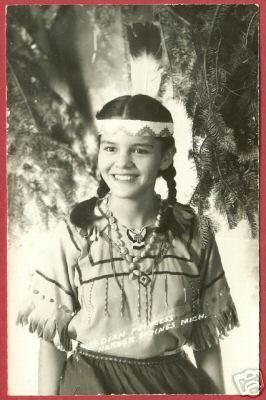 Harbor Springs MI Indian Princess RPPC Postcard BJs