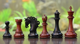 "Pegasus Series Artisan Staunton Chess Set in Ebony/Bud Rose Wood - 4.5"" - VJ032 - $545.99"