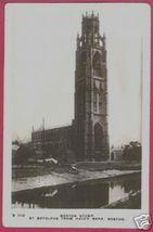 BOSTON MASSACHUSETTS St Botolphs Church River 1918 RPPC - $20.00