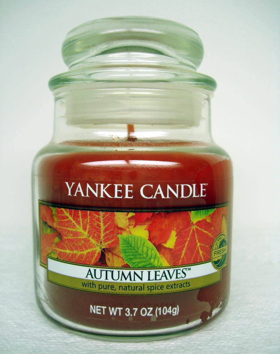 Yankee Candle Autumn Leaves Scent Small Jar Home Decor