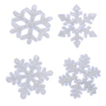 (04)Christmas Snowflake Wall Sticker Silicone Glass Sticker Large Window... - $14.00