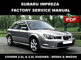 ULTIMATE SUBARU IMPREZA 2001 2002 2003 2004 2005  2006 2007 OEM REPAIR M... - $14.95