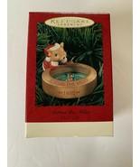 1995 Hallmark Keepsake ACROSS THE MILES Ornament Santa Mouse & Compass C... - $9.89