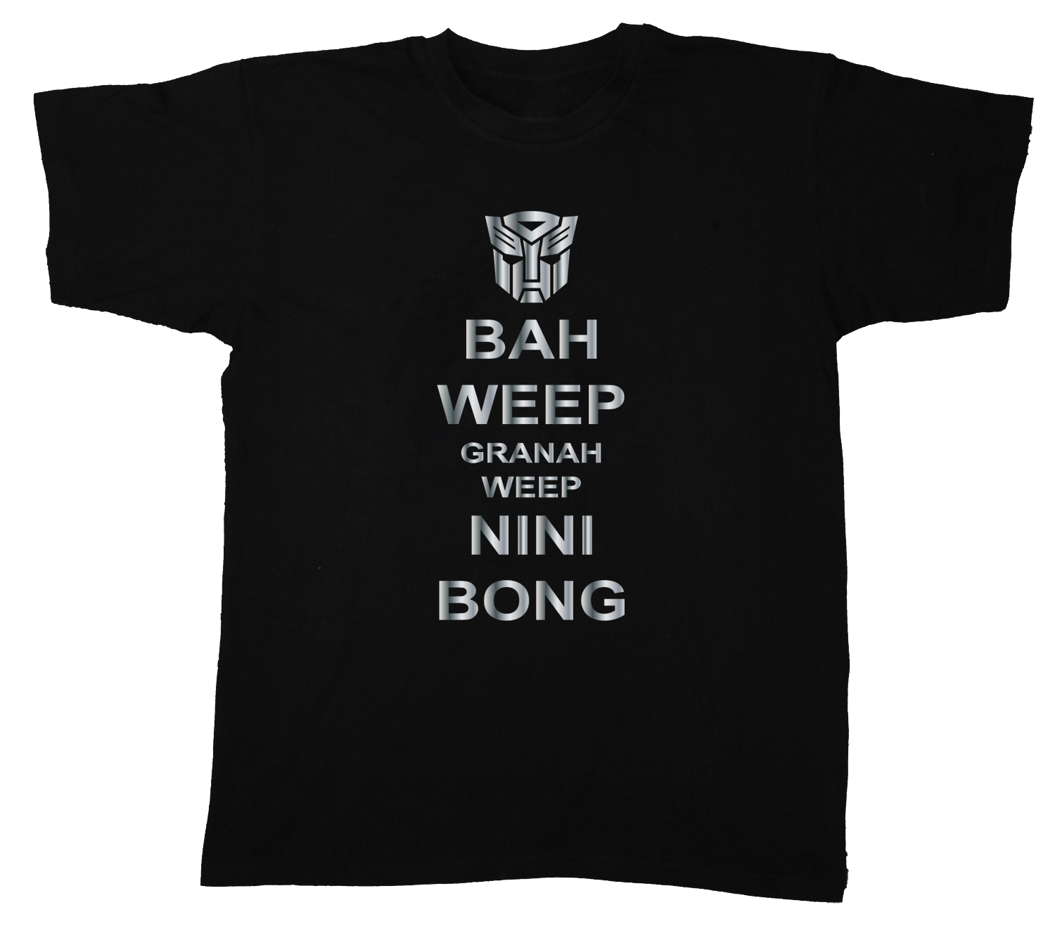 Transformers bah weep universal greeting and 50 similar items transformers bah weep universal greeting original animated movie quote t shirt m4hsunfo