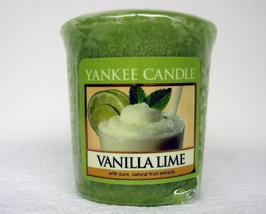 Yankee Candle Vanilla Lime Scent Votive Home Decor 4 Count - $6.75