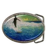 Vintage Surfer Metal Mens Belt Buckle - $12.34