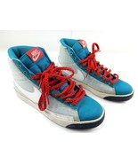 Nike Blazer High Neo Womens Sneakers Turquoise/Midnight Navy/Red 317808-... - $59.22