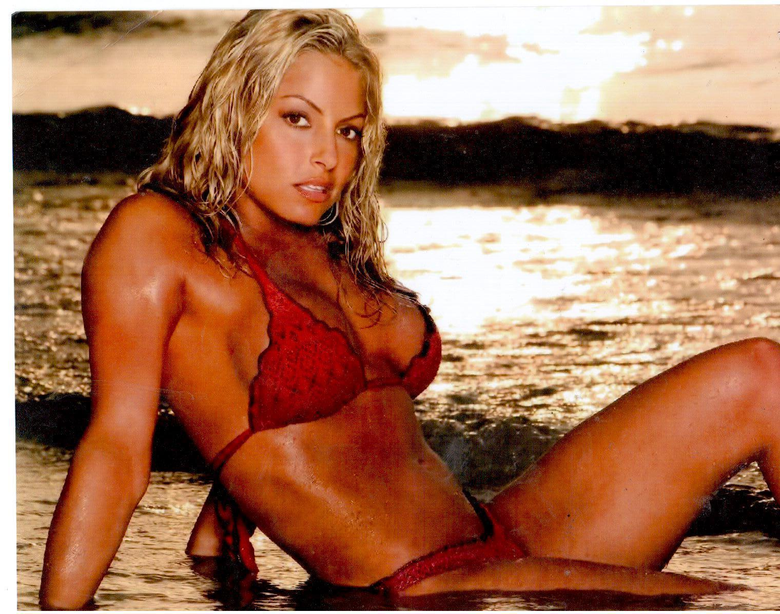 Primary image for Trish Stratus BS Vintage 8X10 Color Wrestling Memorabilia Photo