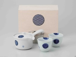 [Value] Hasami Porcelain : Kyusu tea pot & 2 Yunomi tea cups Set (CREST)... - $102.85