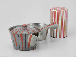 [Value] Hasami Porcelain : Kyusu tea pot & Tea caddy storage Set (STRIPE... - $102.85