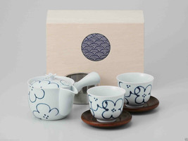 [Value] Hasami Porcelain : Kyusu tea pot & 2 Yunomi tea cups Set (Flower... - $102.85