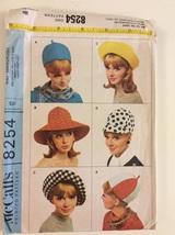 1960's Mad Men Era Mod Hats McCall's 8254 Sewing Pattern - $32.00