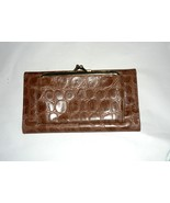 Split Leather Clutch Wallet with French Clasp Change Purse - $10.00