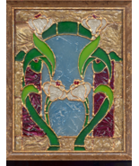 Stain glass Window Art floral - $10.00