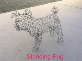 Standing Pug Topiary Frame - $85.00