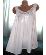 White 2 Piece Babydoll Nightgown & Panty 2X 4X Short Gown Soft Silky - $25.00